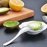AOOSY 6 Stück Suppenlöffel Edelstahl Löffel,15CM Silber Tisch Abendessen Reis Kaffee Wüste Löffel Spiegelpolieren Runde Löffel - 4