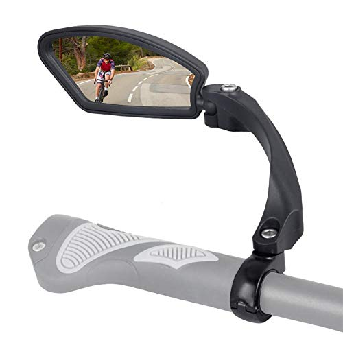Handlebar Bike Mirror Bike Rear View Stainless Steel Lens Rotary Bicycle Safe Rearview Mirror for Mountain Road Bike Cycling Safety Mirror