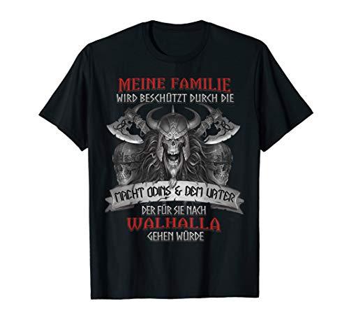 Wikinger Spruch Walhalla T Shirt Herren Macht Odin Sprüche