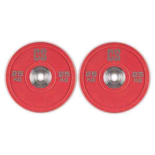 Capital Sports Performan Full Set Gewichtsscheiben Langhantelscheiben Hantelscheiben 4 Paar 10kg, 15kg, 20kg, 25kg (50,4mm Aufnahmeöffnung, Hantelaufnahme aus massivem Chrom)