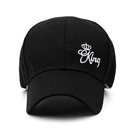N / A Gorra de Beisbol Gorra de béisbol King Queen, Bordado de Letras