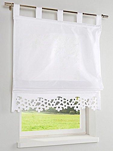 heine home halbtransparentes Panneaux Ausbrenner Blumenkante H/B 0,45/120 cm