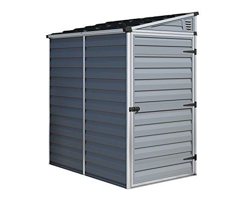 Palram Canopia Skylight Shed (4x6 pent, Grey)