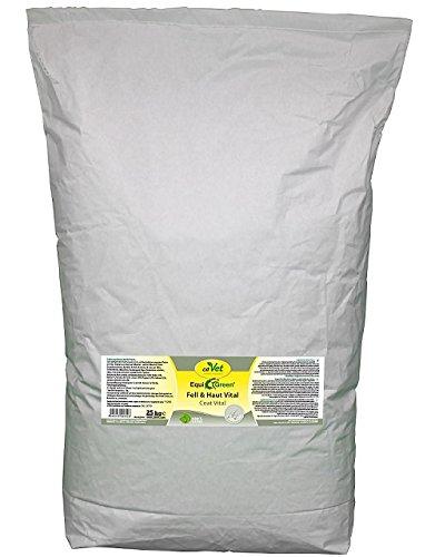 cdVet Naturprodukte EquiGreen Fell & Skin Vital 25 kg - voor paarden en pony's met huidproblemen - zomereczeem - muik - bij imbalances in de huid en vachtgebied - vachtverversing - gezondheid -