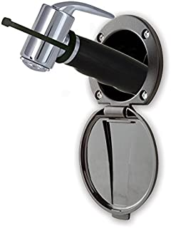 Ambassador Marine Plastic Lid/Cup Recessed Shower Kit with Hammer-Head Black Sprayer and 6-Feet Hose