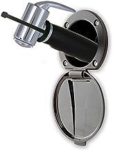 Ambassador Marine Plastic Lid/Cup Recessed Shower Kit with Hammer-Head Black Sprayer and 6-Feet Black Rubber Hose