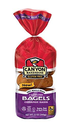 Canyon Bakehouse Gluten Free Cinnamon Raisin Bagel 14oz (3 pack)