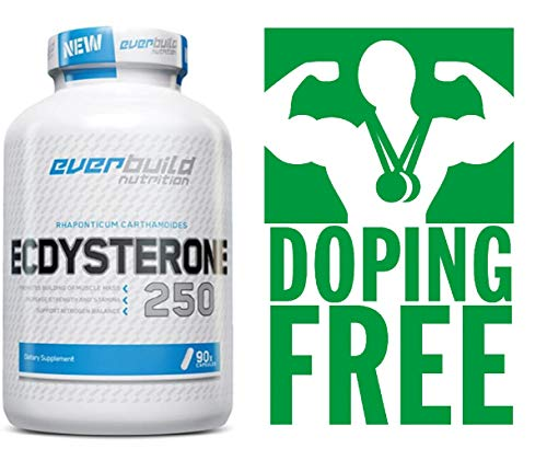 Ecdysterone 90 Capsules x 250 Mg Anabolic Testosterone Booster for Lean Muscle Growth