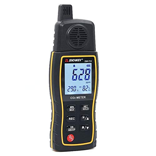 Dhmm123 Digital SW723 Digitaler Kohlendioxiddetektor 0-9999ppm Hochpräziser Detektor Air CO2 Gas Monitor Tester Spezifisch