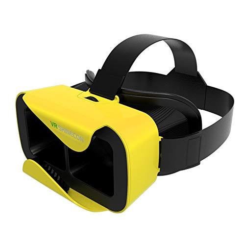 ILYO Gafas de Realidad Virtual portátiles 3D, Adaptador FOV de 90 °, 4.7-6.0 Pulgadas, teléfono Inteligente Apple Andrews Huawei, Amarillo