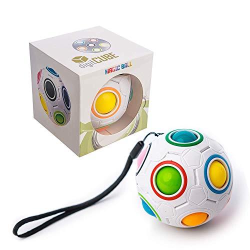 digitCUBE – Magic Ball Puzzle - Regenbogenball Spielzeug - Geschicklichkeitsspiel mit 12 Kugeln für Mädchen und Jungen
