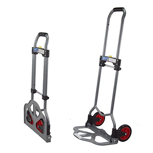 TrutzHolm® Alu Sackkarre klappbar Transportkarre Stapelkarre Handkarre Karre (60 kg - Teleskop)