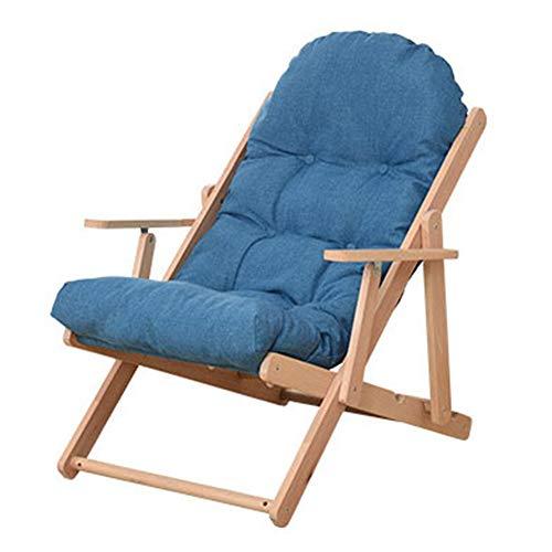 Sofá Lounge Lounge Recliner Relajante Lounge Chair Muebles Ajustable Patio Sofá para la Lectura de Juego de la TV (Color : Blue, Size : 74 * 128 * 16cm)