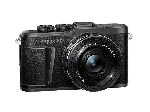 PEN E-PL10 Black Camera Body with Black M.Zuiko Digital 14-42mm F3.5-5.6 EZ Lens