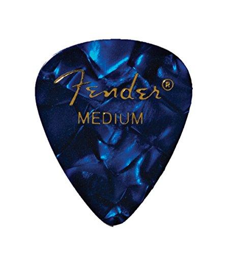 Fender 1980351802 Shape Premium Picks, Medium, Blue Moto, 12 Count