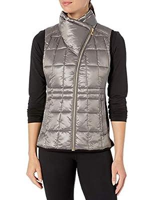Calvin Klein Women's Avenue Quilted Vest, Liquid Quartz, Small by Calvin Klein