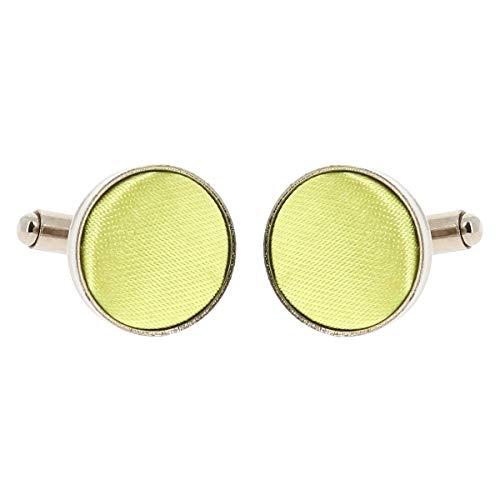Boutons de Manchette Vert anis pour Homme - Accessoire Poignet Chemise et Veste de Costume - Mariage, Cérémonie