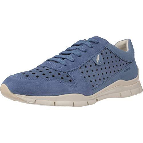 Geox Damen D Sukie a Sneaker, Blau (Avio C4005), 38 EU