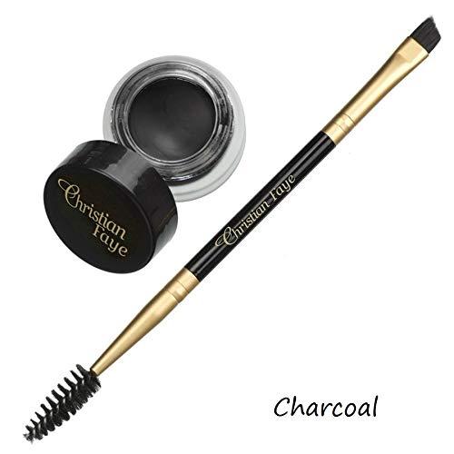 Crème semi-permanente pour sourcils - existe en 4 couleurs - brosse double face incl. (Charcoal)