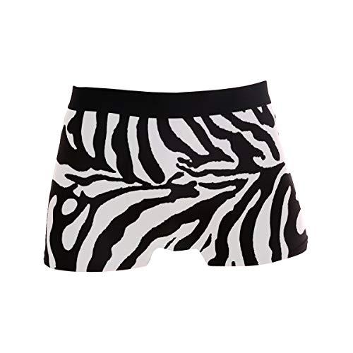Herren Unterhose mit Zebramuster, bequem, lässig, Alltags-Boxershorts, Männer, sexy Unterhosen, Geschenk für Mann Gr. X-Large, Schwarz