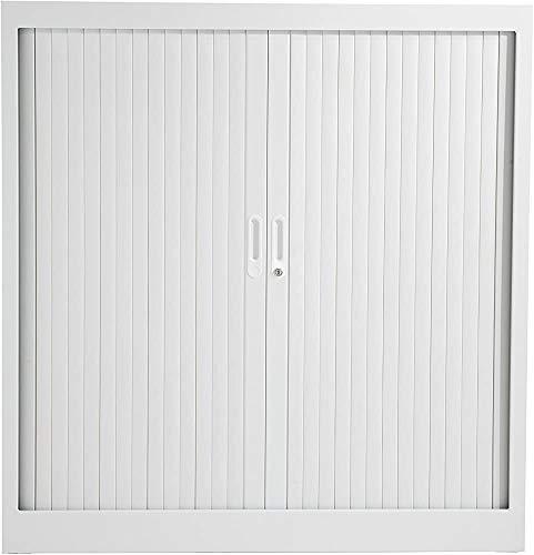 Armarios bajos de acero, regulable en altura, incluyendo estanterías modulares. abertura lateral del gabinete, totalmente bloqueable,White- 100 cm x 45 cm x 195 cm