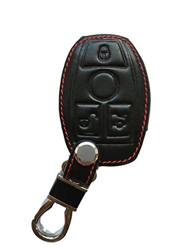 MAINT-Lederetuis Schlüsseltasche Hülle Etui Leder – Schutz & Schlüsselanhänger Ersatz - Schlüssel Cover – für A GLA CLA B C CLC E CLS ML GLE GLK S SL SLK Klasse W176 W212 W166 Kombi Limousine SUV