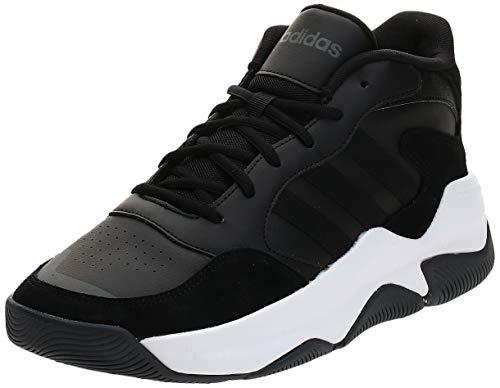adidas Streetmighty, Scarpe da Basket da Uomo, Nero Core Black Core Black Grey Six, 43 1/3 EU