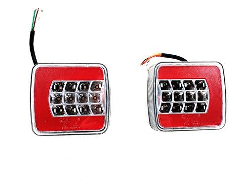 2x 12V / 24V LED-Rückleuchten Set Glo-Trac R + L Rücklicht Anhänger Trailer 4 Funk.E-Prüf Heckleuchte Rücklicht Traktor