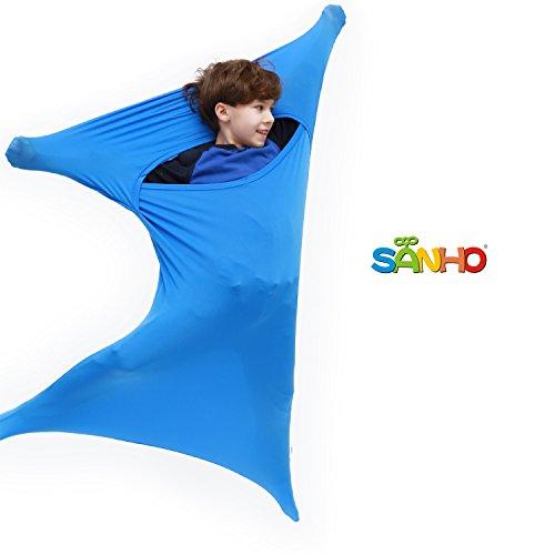 SANHO Premium Sensory Sock, Updated Version, Medium, 50' L x 24' W, Good for Height:46'- 54' Blue