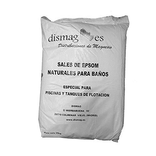 Sel d'Epsom 25 Kg, BIO-Source concentrée de Magnésium, Sel 100% Naturel. Bain et Soins Personnels.Promotion, Livraison 24h