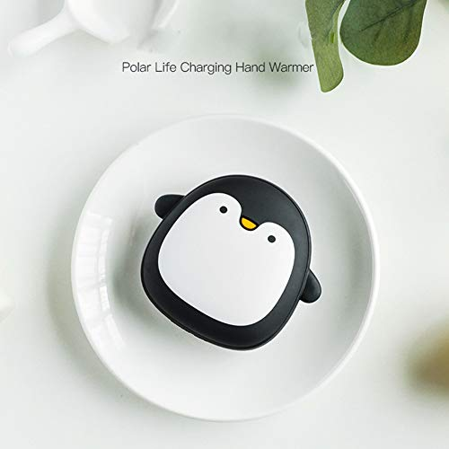 RONSHIN Portable USB Charging Hand Warmer, Mini Cute Penguin Shape, Phone Power Bank, Winter Body Hand Heater