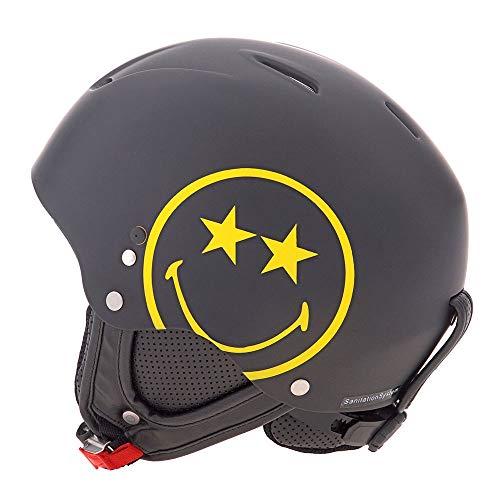 Hmr Helmets Smiley World Helm Unisex Erwachsene, Unisex, 451, Schwarz, 55/56