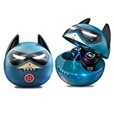 Wireless Earbuds for Kids, Bluetooth 5.0 Headphones with Noise Cancelling and Built-in Mic Deep Bass Touch Control Waterproof, Cute Captain America Ear Buds for iPhone Android, Gift for Teens