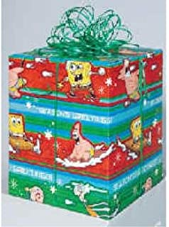 Spongebob Squarepants Christmas Gift Wrap - 40 Sq Ft