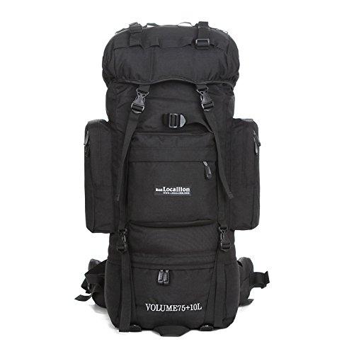 Support de sac d'alpinisme camping Outdoor randonnée 85L sac à dos de randonnée voyage bagages , black