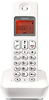 Gigaset A100 Cordless Phone with 8 Hours Talk Time, 100 Hours Standby, 50 Contact Storage, Designed in Germany, White