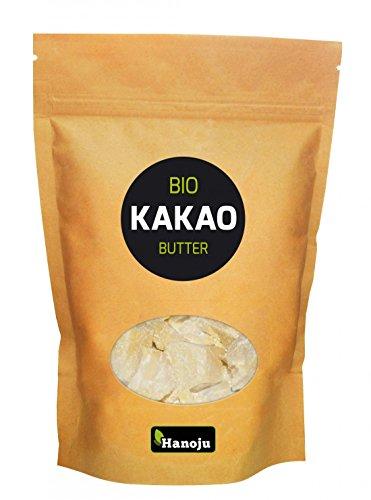 Hanoju Bio Kakaobutter, desodoriert 250 g - Probieren Sie unsere Kakaobutter auch als Beautyprodukt zur unterstützenden Pflege für Haut und Haare
