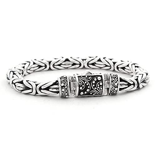 Shadi - Pulsera hombre y mujer plata eslabones bizantinos - joyería de plata artesanal