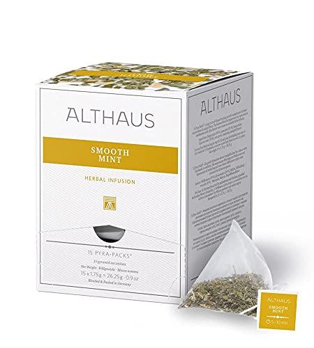 Althaus Tee SMOOTH MINT (vorher MILDE MINZE) ⋅ Kräutertee im Pyramidenbeutel PYRA PACK ⋅ Naturbelassene Kräuterteemischung mit Minze ⋅ 15 x 1,75g