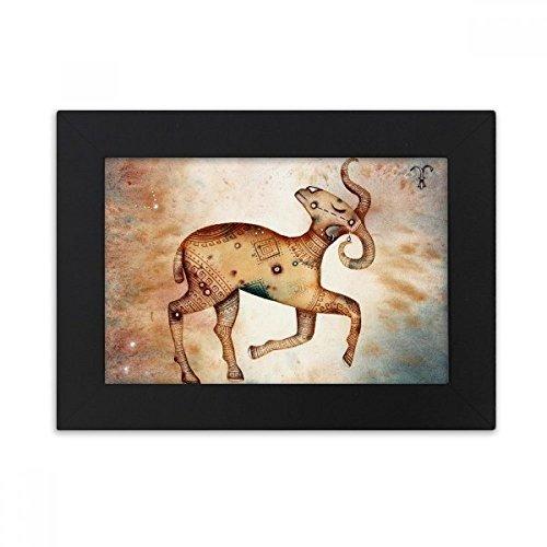 DIYthinker maart april Ram sterrenbeeld Zodiac Desktop fotolijst zwart Picture Art Schilderen 5X7 Inch
