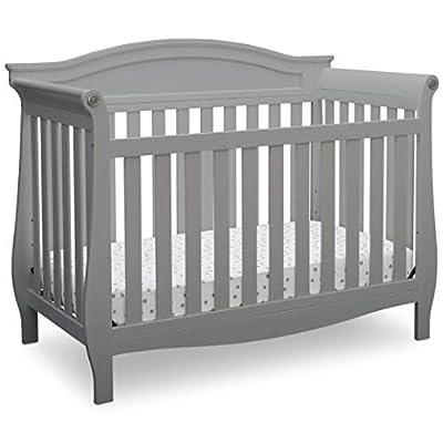 Delta Children Lancaster 4-in-1 Convertible Baby Crib, Grey