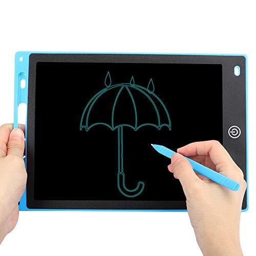 Echtes elektronisches Zeichenbrett Glatter LCD-Schreibblock EIN klick zum Löschen 5 Farben 10 Zoll Klar Lehren Lehren Zeichnen für Kinder(Blue)