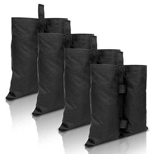wolketon 4er-Pack Pavillon Sandsäcke,Pavillonstandfüße,Gewichte Sandsäcke,Befüllbar Verdicken Wasserdicht Bein Gewichte,Double-Stitched Pavillon Gewichte,für Zelt Gewichtete Sandsäcke(Schwarz)