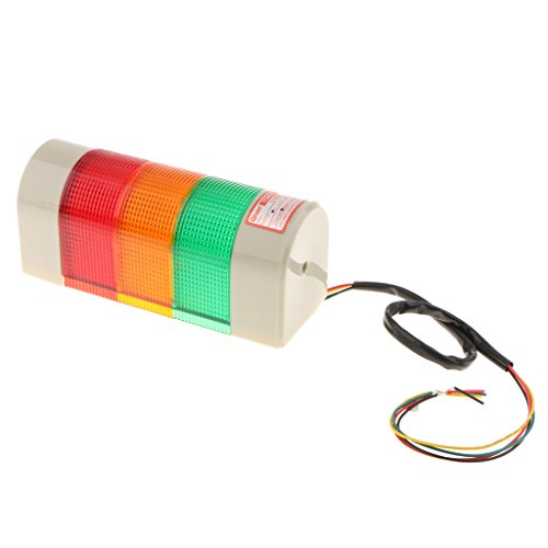 Homyl LED 24V Dreifarbig Signallampe Signalleuchte für Büro, Gebäude, Fabrik usw. 19 x 8 x 7cm