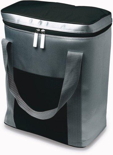 Grande borsa frigo, può contenere 6 bottiglie da 1,5 l, chiusura zip