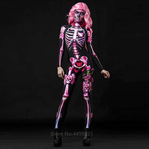 ZHANGHUI Trajes de Miedo Adultos Disfraces de Halloween, Halloween Vestido Mujeres, Halloween Vestidos de Las niñas, for Las Partes-Juegos de rol, (Color : Color 1 Jumpsuit, Size : 120CM)