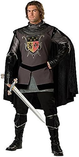 Schwarzr Ritter-Kostüm für Herren - Deluxe L