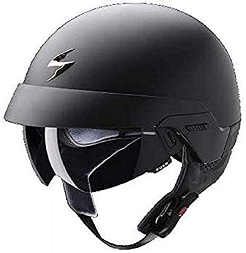 Scorpion 1325-18289 Casco para motocicleta Exo de 100Solid Jet,negro mate