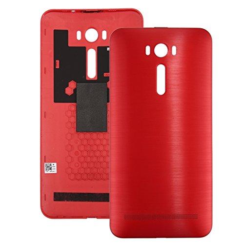 jingtingmy Fijar Las Piezas del teléfono renovar IPartsBuy for ASUS Zenfone 2 / ZE601KL Cepillado Textura Volver Cubierta de la batería de Accesorios (Size : For ASUS zenfone 2 laser/ze601kl Red)
