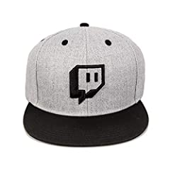 Grey snapback with Twitch's classic Glitch logo. Sized traditionally with adjustable snap strap to fit all heads. 100% Polyester. Hand wash only.